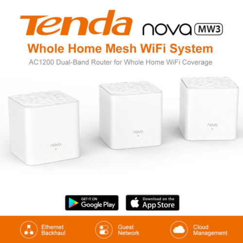 Tenda Nova MW3 Whole Home Mesh Router WiFi System up to 300m2 (1/2/3-pack)