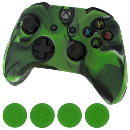 Silicone cover for Xbox One Controller & Thumb grips -Green/Camo Green   ZedLabz