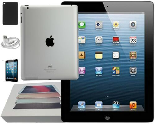 Apple iPad 4th Gen. Black, Wi-Fi Only, 16GB, 9.7-inch, Holiday Bundle Included