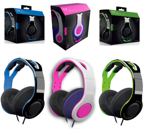 Wired Stereo Gaming Headset For PS4 XBOX One XB1 Nintendo Switch Blue Pink Green