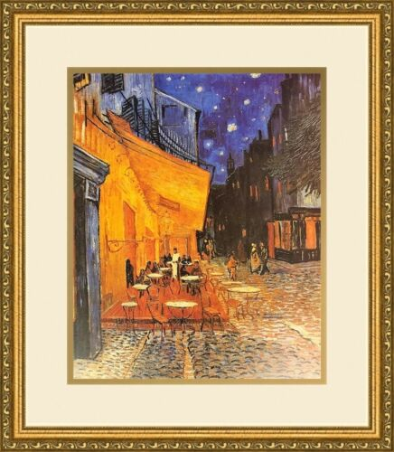 Vincent van Gogh - The Cafe Terrace NEWLY Custom Framed Print FREE SHIPPING
