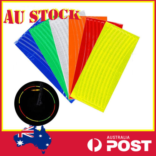 Rim Reflective Tape Fluorescent Stickers Decal For Bicycle MTB Bike Cycle Wheel
