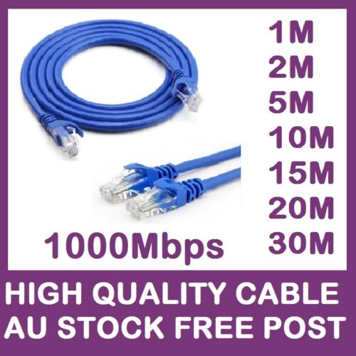 CAT6 Ethernet Network Cable Lan 0.5m 1m 2m 3m 5m 10m 15m 20m NBN router XBOX PS4