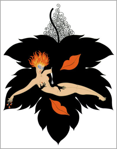 The Seven Deadly Sins, Lust  by Erte  Giclee Canvas Print Repro