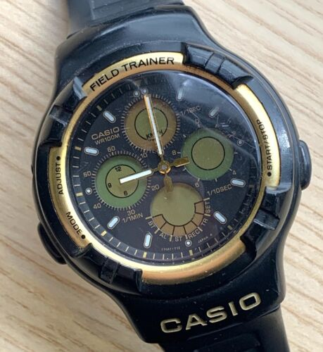 Casio 385 AW-40 Field Trainer ANA DIGI vintage 42 mm NO Funciona for parts