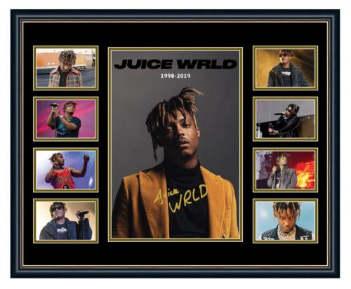 JUICE WRLD TRIBUTE 1998-2019 SIGNED LIMITED EDITION FRAMED MEMORABILIA