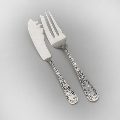 Sheraton Cold Meat Fork Master Butter Knife Set Mauser Sterling Silver Mono