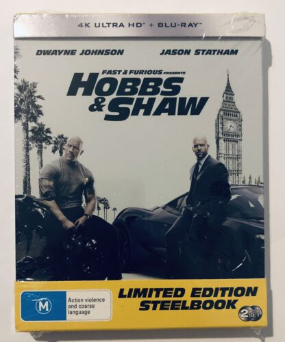 Fast & Furious Hobbs & Shaw Limited Edition Steelbook 4K UHD NEW & SEALED 2019