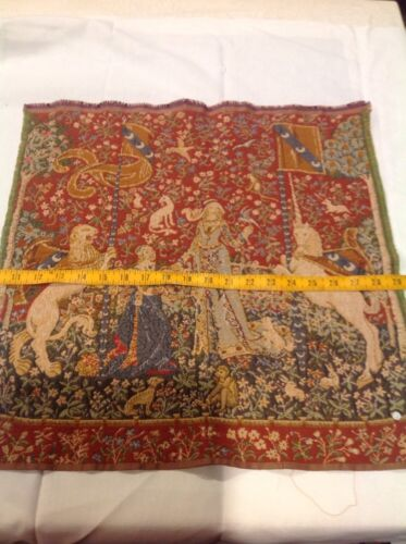 Lady with the Unicorn French Tapestry Repro Medieval Art Make Pillow or Wall Art