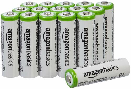 AmazonBasics AA 2000 mAh low self-discharge Rechargeable Batteries (16-Pack)
