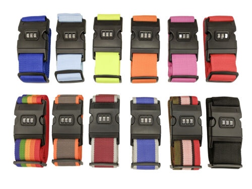 Luggage Strap Code Password Travel Suitcase Secure Lock Safe Nylon Packing Belt