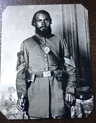 Civil War Military African American Soldier TinType C249RP