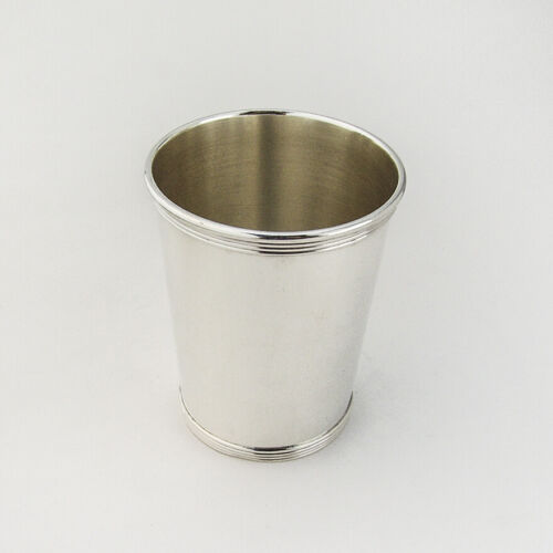 Beaker Julep Cup Banded Rims Alvin Sterling Silver 1950 No Mono