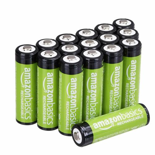AmazonBasics AA Rechargeable Batteries (16-Pack), 2000 mAh, recharged 1000 times