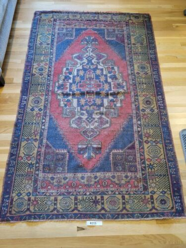 Vintage,Turkish Rug,Contemporary Oushak Handwoven Wool  Carpet 4'6x7'2 ft