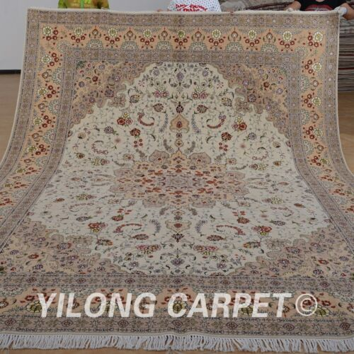 Clearance! Yilong 9'x12' Classic Wool Rugs Hand knotted Carpets Handmade 1379