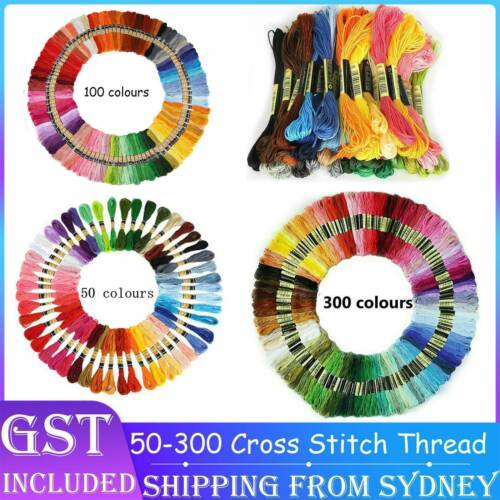 50 300 Coloured Egyptian Cotton Embroidery Cross Stitch Thread Floss Hand Skeins