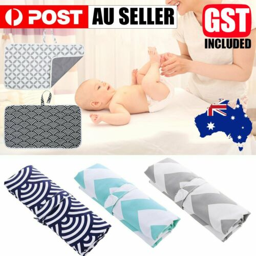 Portable Baby Change Mat Reusable 100% Waterproof Nappy Diaper Changing Pad Bag