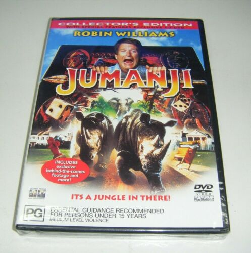 New Sealed DVD - Jumanji (Collector's Edition) [B8]