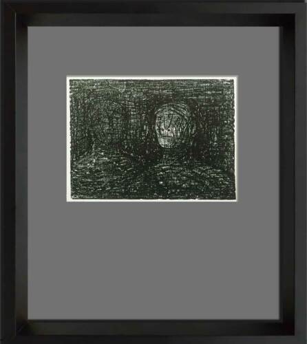 """Henry MOORE Lithograph ORIGINAL """"Thin Lipped Armourer"""" Ltd. Ed w/Archival FRAME"""