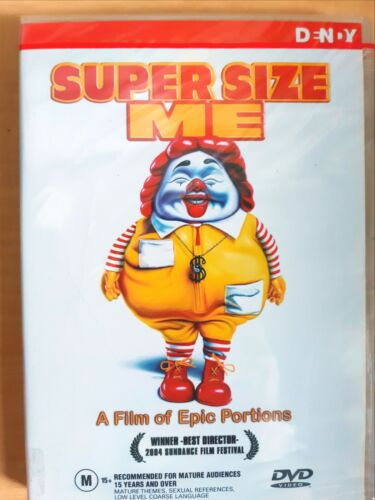 Super Size Me [ DVD ] Region 4, BRAND NEW & SEALED, Free Next Day Post from NSW