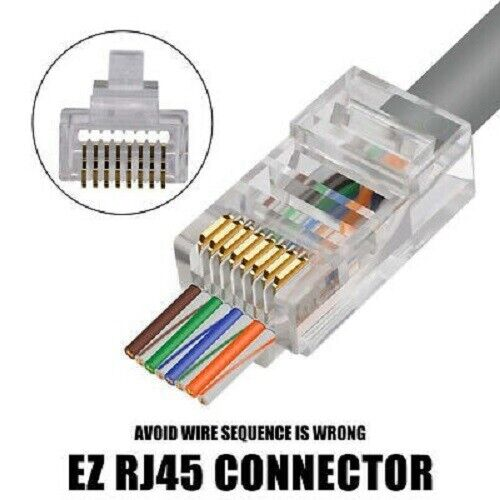 EZC6UTP Connector - CAT6/CAT5 Jar of 50