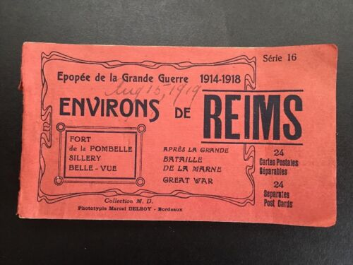 21 Original 1914-1918 World War 1 Reims France Photo Postcards In BookletFrance - 13964