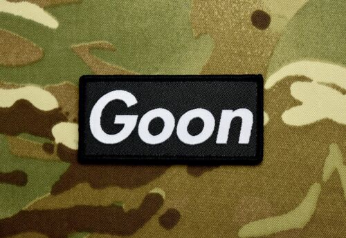 Goon Woven Morale Patch B&W VELCRO® Brand Supreme NVGs OAF Tactical Cap OperatorArmy - 48824
