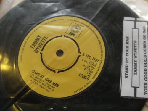 """TAMMY WYNETTE 1969 STAND BY YOUR MAN 45 rpm SINGLE 7"""" VINYL RECORD"""