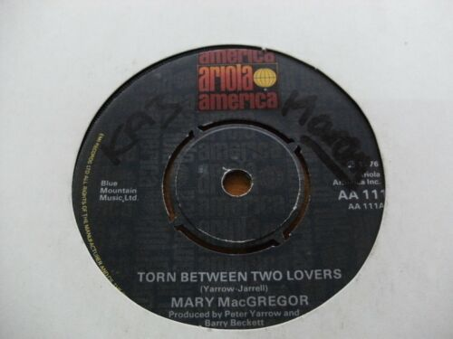 """MARY MacGREGOR 1976 TORN BETWEEN TWO LOVERS 45 rpm SINGLE 7"""" VINYL RECORD"""