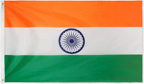 Large India Indian Flag Heavy Duty Outdoor Diwali Divali IN 90x150cm - 3x5ft