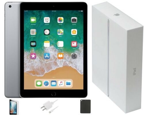 Apple iPad 2017 (5th Gen) 9.7-inch, 32GB, Wi-Fi Only, Space Gray, Bundle Deal
