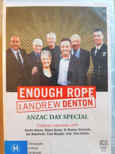 Enough Rope With Andrew Denton - Anzac Day Special [ DVD ] Region 4, BRAND NEW
