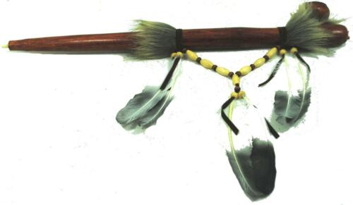 Fair Trade 52cm Peace Pipe Hand Carved Replica Native American Indian feather