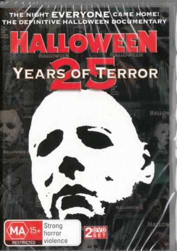 HALLOWEEN 25 YEARS OF TERROR  -  NEW &SEALED R4 DVD FREE LOCAL POST