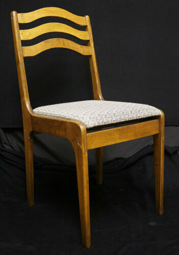24 available Vintage Wood Wooden Cafe Restaurant Dining Side Chairs Fabric Seats