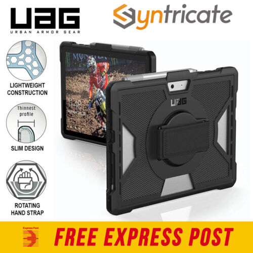 Microsoft Surface Go UAG Outback Feather-Light Rugged Case W/Hand Strap - Black