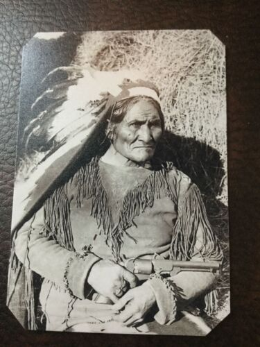 A  Rare Depiction  of Geronimo With Six Gun tintype C312RP