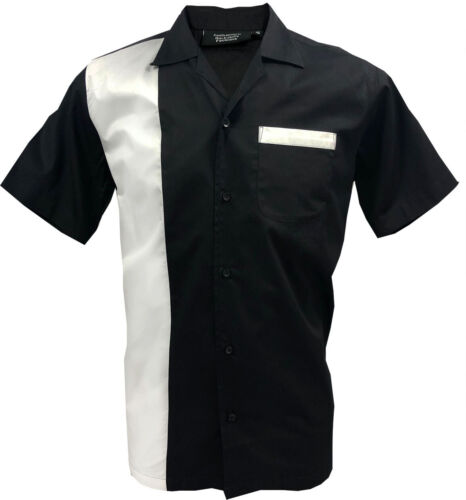 1950s 1960s Rockabilly ,Bowling, Retro, Vintage Men's shirt, 'New' Fast delivery