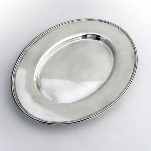 Towle Oval Tray Applied Banded Rim Sterling Silver