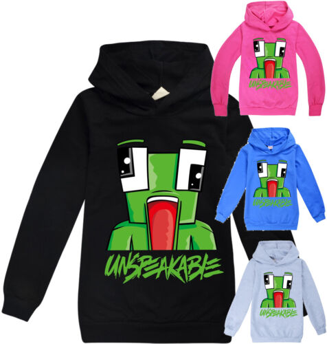 UNSPEAKABLE  boys girls thin hoodie top jumper shirt outfit pullover size 5-12