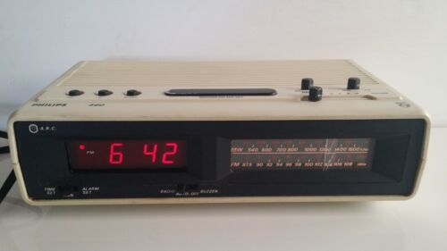 1977 Philips Musi 460 Alarm Clock Radio