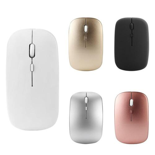 W8 2.4G Wireless Rechargeable Thin Silent Mouse 1600DPI 4 Keys Optical Mice A#S