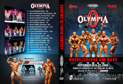 2008 IFBB MR OLYMPIA DVD NEW