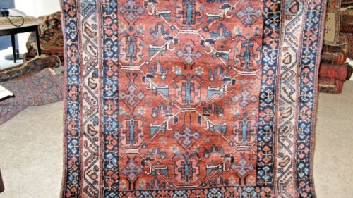 1900 ESTATE ANTIQUE RUG FULL PILE VERY SHINY WOOL EXCELLENT FOR COLLECTORS  SEE
