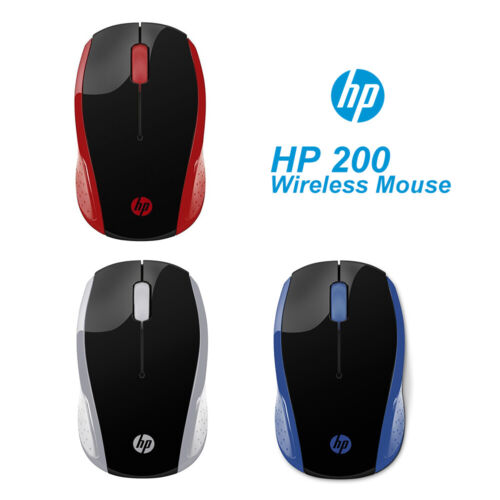 HP Wireless Mouse 200 2.4Ghz Optical Sensor 1000DPI Red/Blue/Silver