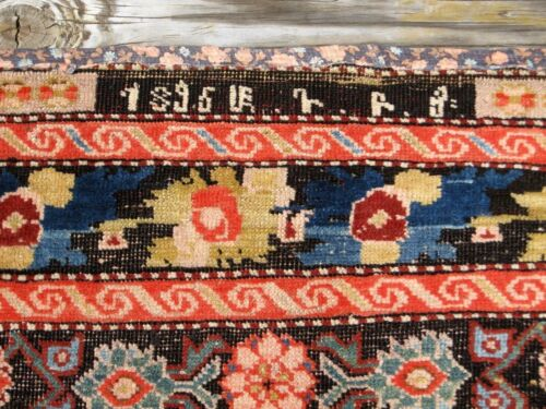 """ANTIQUE DATED  1896 ARMENIAN  KARABAKH  RUG 7'4"""" X 3'6"""" GREAT COLORS"""