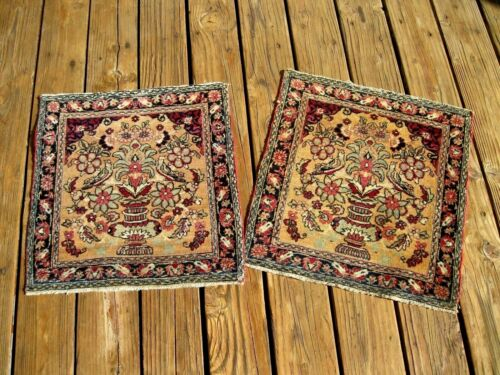 1900  VERY FINE  BAG FACE (PAIR ) WITH BIRDS GREAT COLORS  EXCEPTIONAL  PIECE