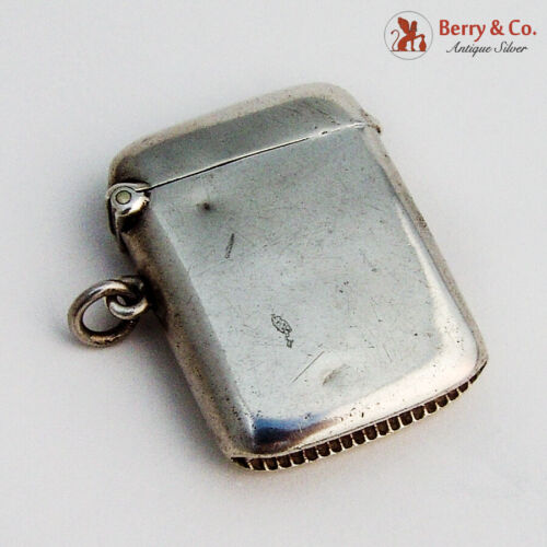English Chatelaine Match Safe Collyer Sterling Silver 1912