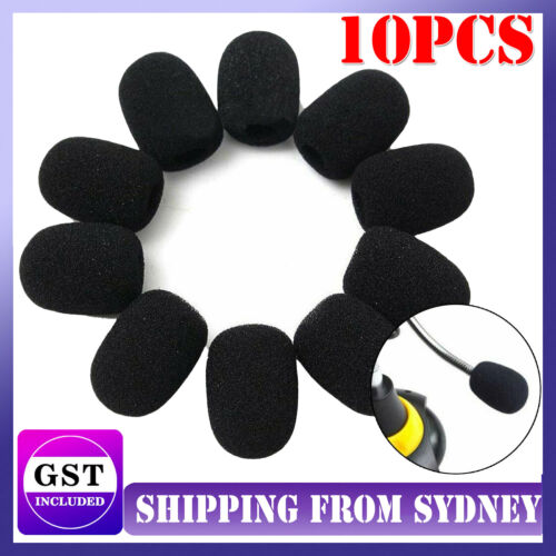 10 Pcs 30x20x8MM Mini Microphone Headset Windscreen Sponge Foam Mic Cover AU